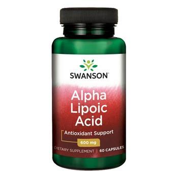Swanson ALA kwas alfa liponowy, 600 mg, kapsułki, 60 szt.