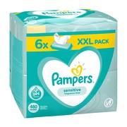 Pampers Sensitive, chusteczki nawilżane dla niemowląt, 6 x 80 szt.