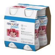 Resource Protein, płyn o smaku owoców leśnych, 200 ml, 4 szt.