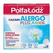 Laboratoria PolfaŁódź Calcium Alergo Plus Junior, tabletki musujące, 16 szt.