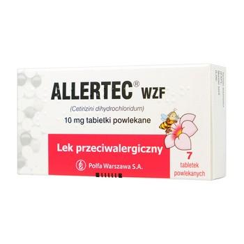 Allertec WZF, 10 mg, tabletki powlekane, 7 szt.
