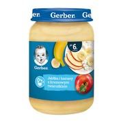 Gerber, jabłka i banany z kremowym twarożkiem, 6 m+, 190 g