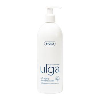 Ziaja Ulga dla skóry wrażliwej, kremowy żel myjący do twarzy i ciała, 400 ml