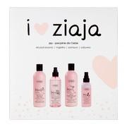 Zestaw Promocyjny Ziaja Jeju, mydło do ciała, 300 ml + mgiełka do twarzy i ciała, 200 ml + szampon, 300 ml + dwufazowa odżywka do włosów w sprayu, 125 ml