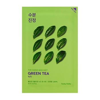 Holika Holika Pure Essence Mask Sheet - Green Tea, maseczka na bawełnianej płachcie z ekstraktem z zielonej herbaty, 20ml