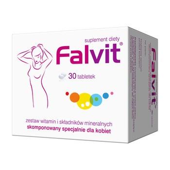 Falvit, tabletki drażowane, 30 szt.