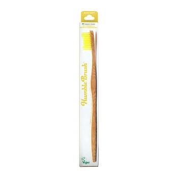 Humble Brush, bambusowa szczoteczka do zębów, miękka, żółta, 1 szt.