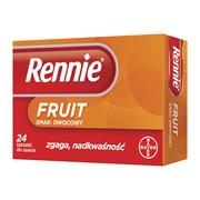 Rennie Fruit, 680 mg + 80 mg, tabletki do ssania, smak owocowy, 24 szt.