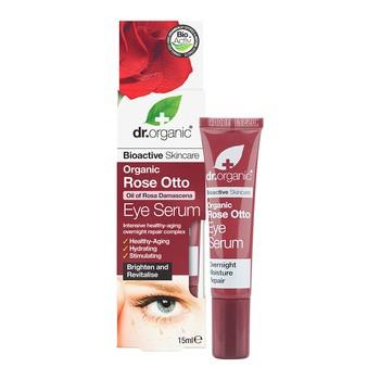 Dr. Organic Rose, serum pod oczy z olejkiem różanym, 15 ml