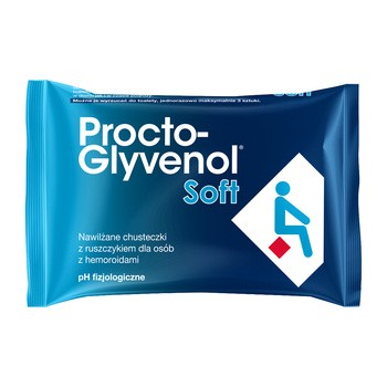 Procto-Glyvenol Soft, nawilżane chusteczki dla osób z hemoroidami, 30 szt.