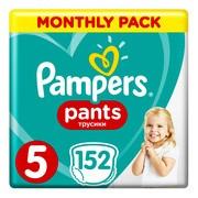 Pampers Pants 5, pieluchomajtki dla dzieci (12-17 kg), 152 szt.