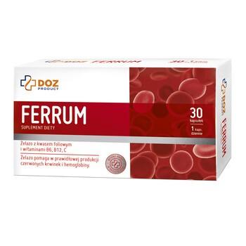DOZ PRODUCT Ferrum, kapsułki, 30 szt.