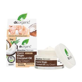 Dr.Organic Virgin Coconut Oil, krem na dzień z organicznym olejkiem kokosowym, 50 ml