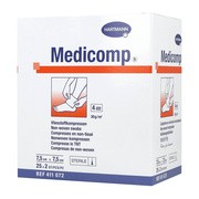 Kompres włóknisty jałowy Medicomp, 4 warstwowe, 7,5 cm x 7,5 cm, 50 szt.