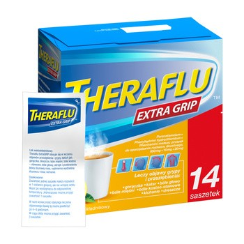 Theraflu ExtraGRIP, proszek do sporządzenia roztworu doustnego, 14 saszetek