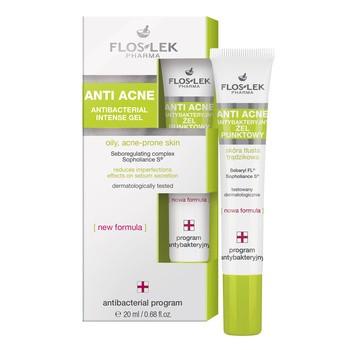 FlosLek Pharma Anti Acne, żel punktowy na niedoskonałości, 20 ml