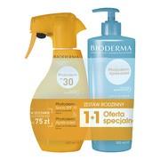 Zestaw Promocyjny Bioderma Photoderm, Apres-soleil, emulsja po opalaniu, 500 ml + spray ochronny dla całej rodziny, SPF 30, 400 ml