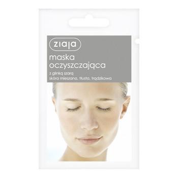 Ziaja, maska oczyszczająca z glinką szarą, 7 ml