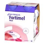 Fortimel Max, płyn o smaku truskawkowym, 4 x 300 ml