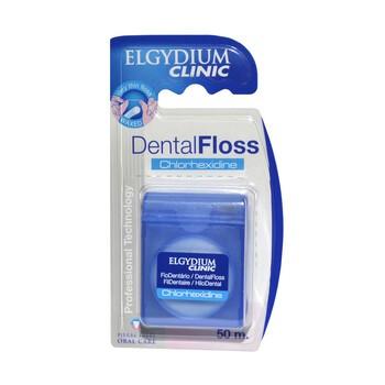 Elgydium Dental Floss Chlorhexidne, nić dentystyczna z chlorheksydyną, 50 m