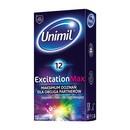 Unimil Excitation Max, prezerwatywy lateksowe, 12 szt.