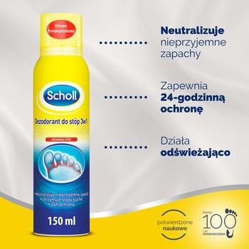 Scholl, dezodorant do stóp 3w1, 150 ml