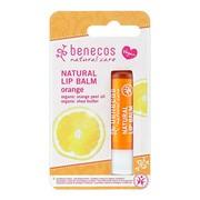 Benecos Natural Lip, balsam do ust, Pomarańcza, 4,8 g