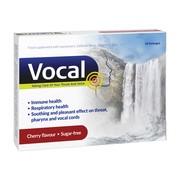 Vocal wiśnia, pastylki do ssania, miękkie, 24 szt.