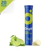 Oryal, tabletki musujące, smak limonkowo-cytrynowy, 20 szt.