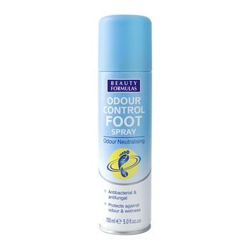 Beauty Formulas, dezodorant do stóp, antybakteryjny, 150 ml