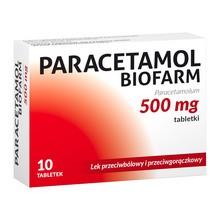 Paracetamol Biofarm, 500 mg, tabletki, 10 szt.