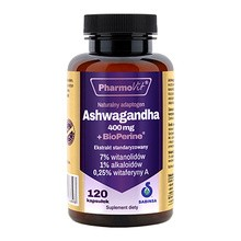Pharmovit Ashwagandha 400 mg + BioPerine, kapsułki, 120 szt.