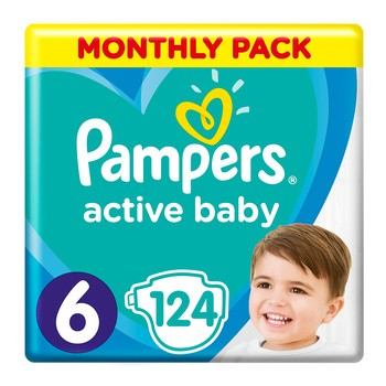 Pampers Active Baby 6, (13-18 kg), 124 szt.