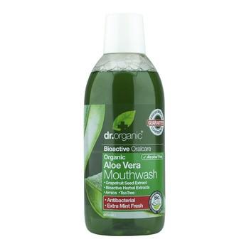 Dr.Organic Aloe Vera, płyn do płukania ust z organicznym aloesem, 500 ml