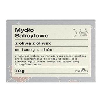 Vis Plantis, mydło salicylowe z olejem z oliwek, do twarzy i ciała, dla skóry z problemami, 70 g