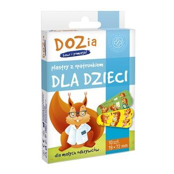 DOZ PRODUCT Plastry z opatrunkiem dla dzieci DOZia, 19 x 72 mm, 10 szt.