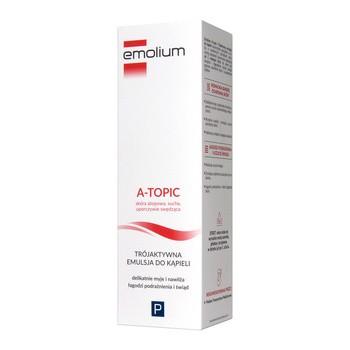 Emolium A-Topic, trójaktywna emulsja do kąpieli, 200 ml