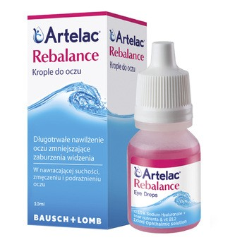 Artelac Rebalance, krople do oczu, 10 ml