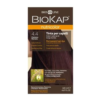 Biokap Nutricolor, farba do włosów, 4.4 kasztanowy brąz, 140 ml
