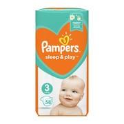 Pampers Sleep & Play 3 (5−9 kg), pieluszki jednorazowe, 58 szt.
