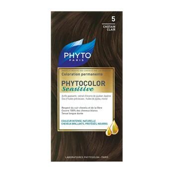 Phyto Color Sensitive, farba do włosów, 5 jasny złoty kasztan, skóra wrażliwa, 1 opakowanie