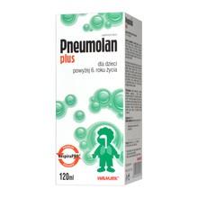 Pneumolan Plus, płyn, nos, zatoki i oskrzela, po 6.roku życia, 120 ml