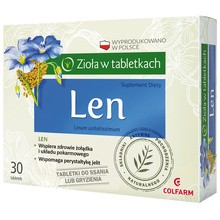 Len, tabletki do ssania, 30 szt.
