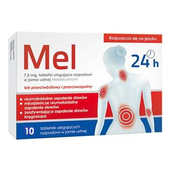Mel, 7,5 mg, tabletki ulegające rozpadowi w jamie ustnej, 10 szt.