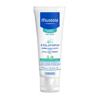 Mustela Stelatopia, krem emolient do twarzy, 40 ml