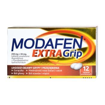 Modafen Extra Grip, 200 mg + 30 mg, tabletki powlekane, 12 szt.