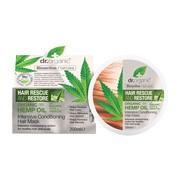 Dr.Organic Hemp Oil, maska do włosów z organicznym olejem z konopi siewnych, 200 ml