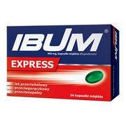 Ibum Express, 400 mg, kapsułki miękkie, 24 szt.