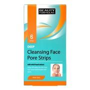 Beauty Formulas, paski na twarz, głęboko oczyszczające, 6 szt.
