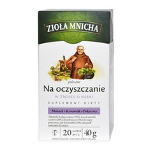 Zioła Mnicha polecane Na Oczyszczanie, fix, 2 g, 20 saszetek